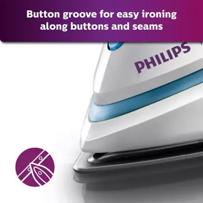 Philips GC1905 Steam Iron with Spray - 1440W (White and Blue)