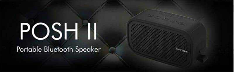 Portronics Posh 6 W Portable Bluetooth Speaker (Black, Stereo Channel)