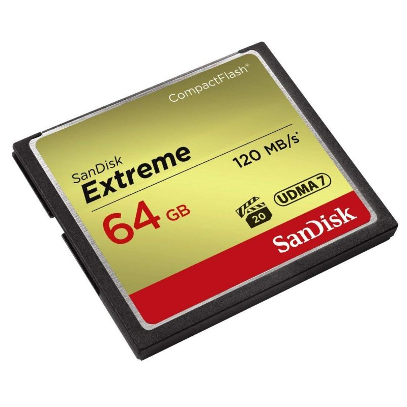 SanDisk Extreme 64 GB Compact Flash Class 10 120 MBpS Memory Card