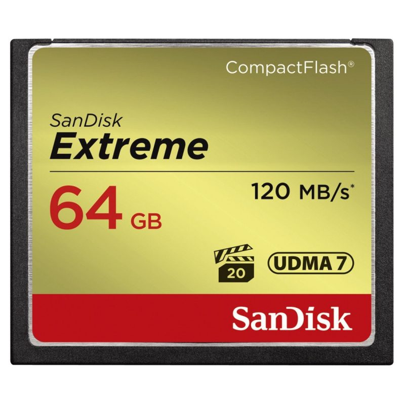 SanDisk Extreme 64 GB Compact Flash Class 10 120 MBpS Memory Card-2