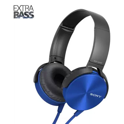 Sony MDR-XB450 on-Ear Extra Bass Wired Headset with Mic