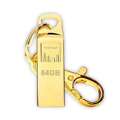 Strontium Ammo 64 GB Pen Drive (Gold)