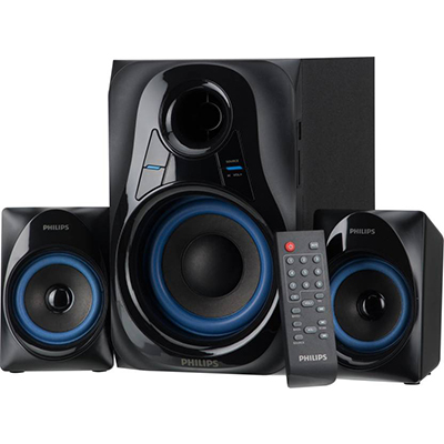 Philips MMS-2580B 30 Bluetooth Home Audio Speaker (Black, 2.1 Channel)