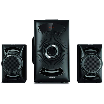 Philips MMS2143B-94 40 W Bluetooth Home Audio Speaker (Black, 2.1 Channel)