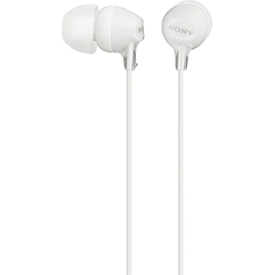 Sony MDR-EX15LP Wired Headphone (White, In the Ear)