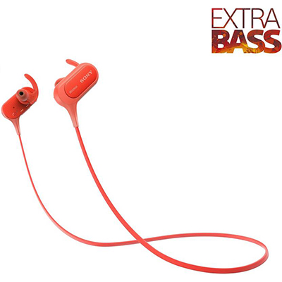 Sony MDR-XB50BSRZE Bluetooth Headphone (Red, In the Ear)