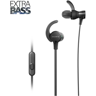 Sony XB510AS Wired Headset with Mic (Black, In the Ear)