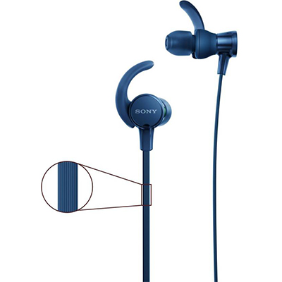 Sony XB510AS Wired Headset with Mic (Blue, In the Ear)
