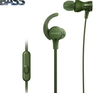 Sony XB510AS Wired Headset with Mic (Green, In the Ear)