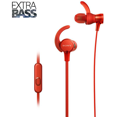 Sony XB510AS Wired Headset with Mic (Red, In the Ear)