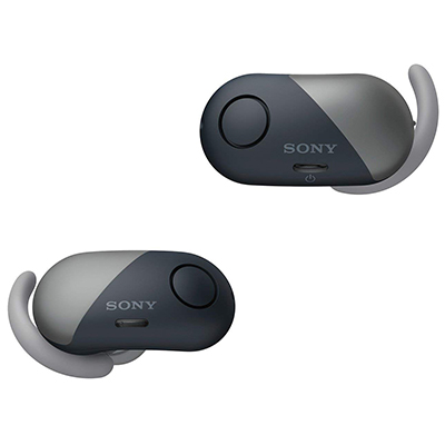 Sony WF-SP700N True Wireless Bluetooth Headset with Mic (Black, In the Ear)