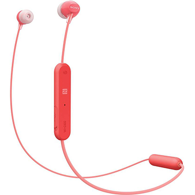 Sony C300 Bluetooth Headset with Mic (Red, In the Ear)
