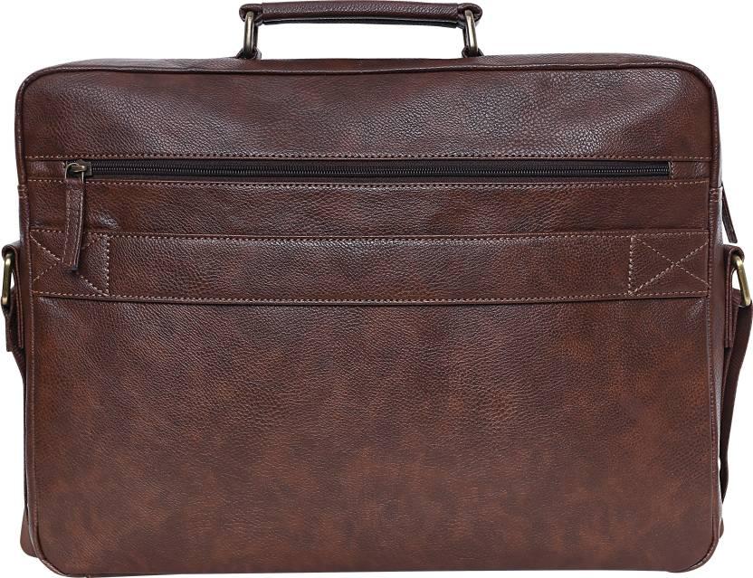 Swisstek 15 inch Inch Laptop Tote Bag (Brown)-4