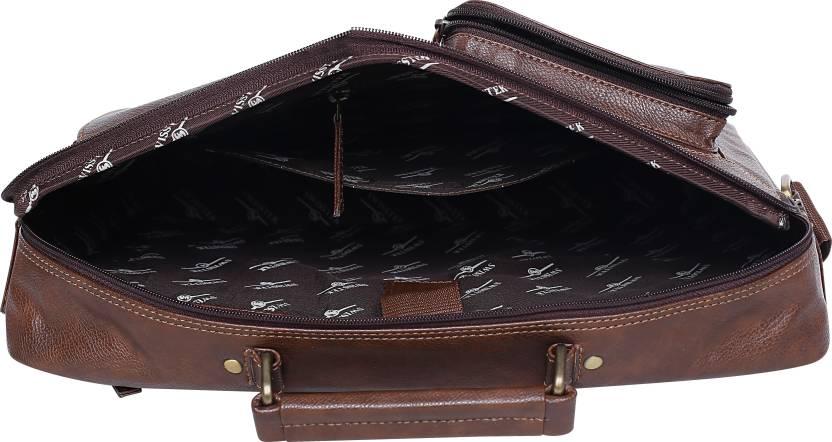 Swisstek 15 inch Inch Laptop Tote Bag (Brown)-5