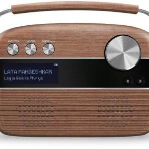 Saregama Carvaan Radio oak wood brown