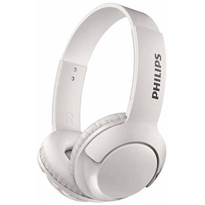 Philips SHB3075WT Wireless On-Ear Headphones with Mic