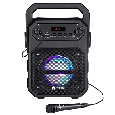 Zoook Rocker ZK-Zb-RK-Thunder Bluetooth Speaker with Karaoke Mic