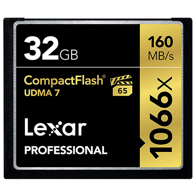 Lexar Professional 1066x 32GB VPG-65 CompactFlash card (LCF32GCRBNA1066)