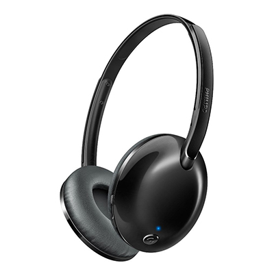 Philips SHB4405BK/00 Bluetooth Headset with Mic (Black, Over the Ear)