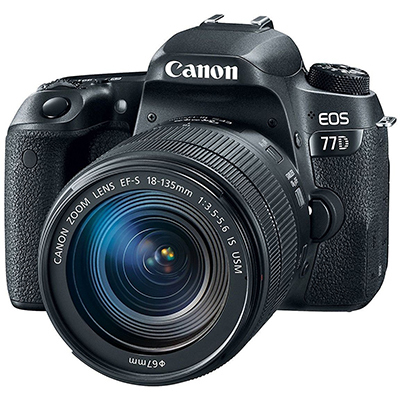 Canon EOS 77D Kit (EF-S18-55 IS STM) 24.2 MP DSLR Camera 16GB Memory Card