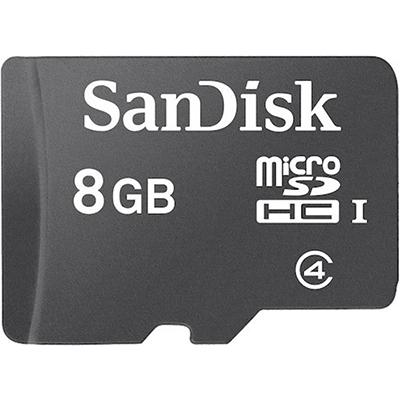 sandisk 8gb microsd class 4 memorycard