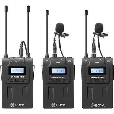 Boya BY-WM8 Pro-K2 UHF Dual Channel Wireless Camera Microphone