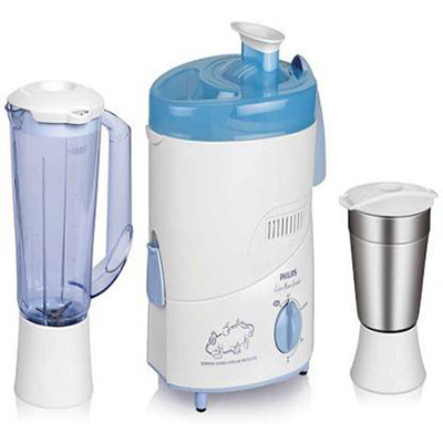 Philips HL 1631-00 500 W Juicer Mixer Grinder (White, Blue, 2 Jars)