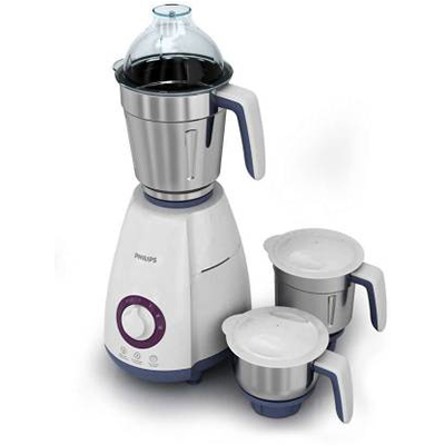 Philips HL 7699 750 W Mixer Grinder (White, 3 Jars)