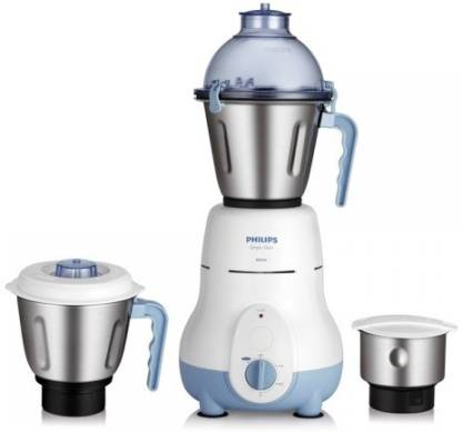 Philips HL1643 600 W Mixer Grinder (Blue, 3 Jars)