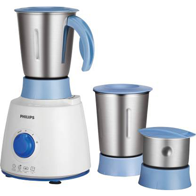 Philips HL7610-04 500 W Mixer Grinder (White and Blue, 3 Jars)