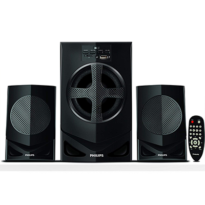 Philips MMS2030F 30 W Home Audio Speaker (Black, 2.1 Channel)