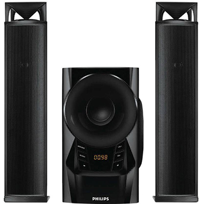 Philips MMS2160B 60 W Bluetooth Home Audio Speaker (Black, 2.1 Channel)