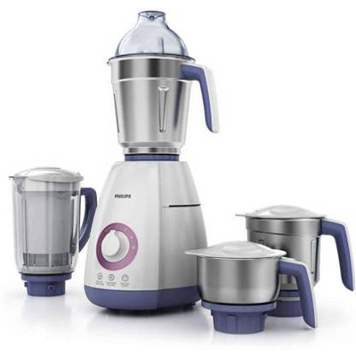 Philips New HL7701 750 W Juicer Mixer Grinder (White, 4 Jars)