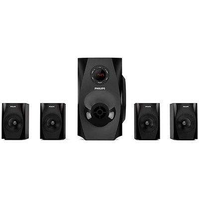 Philips SPA8150B 70 W Bluetooth Home Audio Speaker (Black, 4.1 Channel)