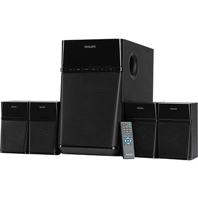 Philips SPA8180B 80 W Bluetooth Home Audio Speaker (Black, 4.1 Channel)
