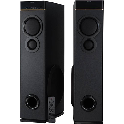 Philips SPA9080B 80 W Bluetooth Tower Speaker (Black, 2.0 Channel)