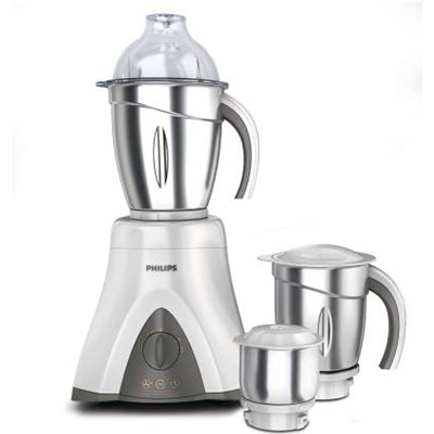 Philips Viva Collection HL7750 650 W Mixer Grinder (Ink Black And Bright White, 3 Jars)