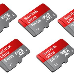 sandisk 64gb A1 memorycard pack of 5