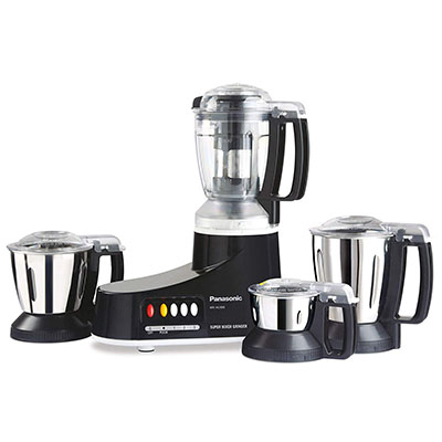 Panasonic MX-AC400B 550 W Juicer Mixer Grinder (Black, 4 Jars)
