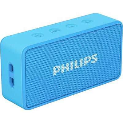 Philips BT64 3 W Portable Bluetooth Speaker (Blue, Mono Channel)