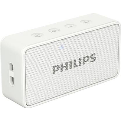 Philips BT64 3 W Portable Bluetooth Speaker (White, Mono Channel)