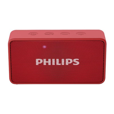 Philips BT64 3 W Portable Bluetooth Speaker (Red, Mono Channel)