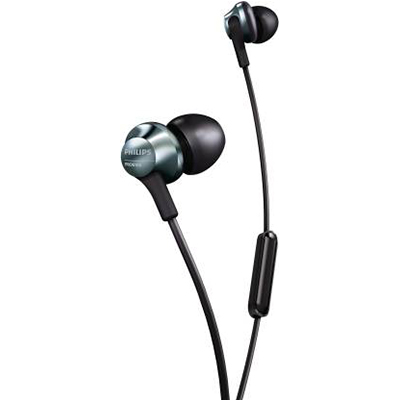 Philips PRO6105BK Wired Headset with Mic (Black, In the Ear)