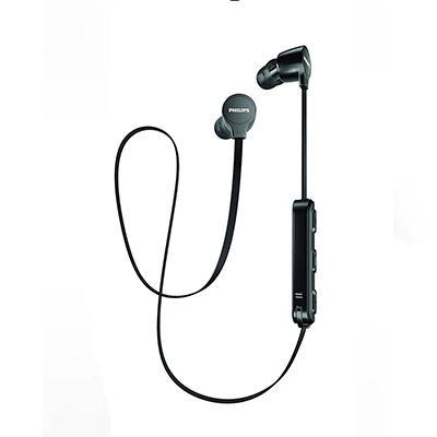 Philips SHB1805BK Bluetooth Headset with Mic (Black, In the Ear)