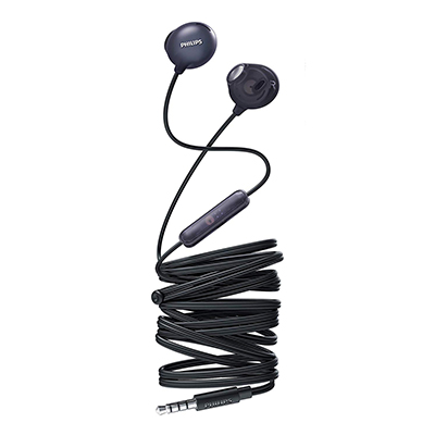 Philips SHE2305BK-00 Upbeat inear Earphone with Mic (Black)