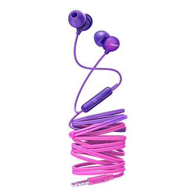 Philips SHE2405PR-00 Upbeat inear Earphone with Mic (Purple)