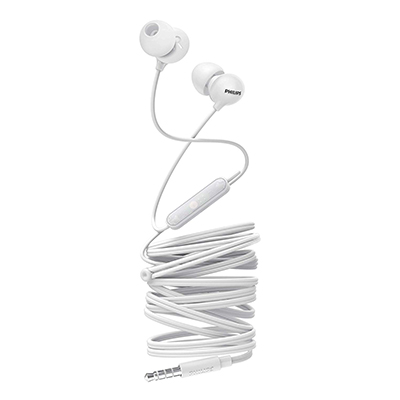Philips SHE2405WT-00 Upbeat inear Earphone with Mic (White)