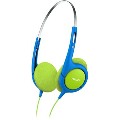 Philips SHK1030 Wired Headphone (Blue, Green, On the Ear)