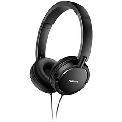 Philips SHL5000-00 Wired Headphone (Black, On the Ear) Open Box
