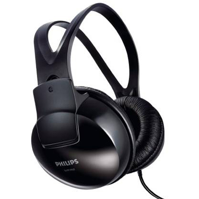 Philips SHP1900-97 Wired Headphone (Black, Over the Ear) (Open Box)